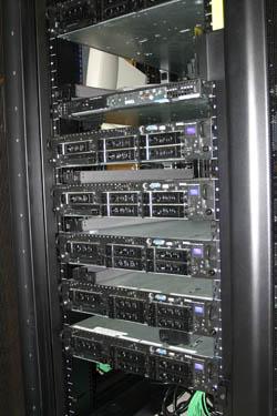 inside one of VCUCC's racks