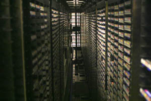 inside VCUCC's tape library system